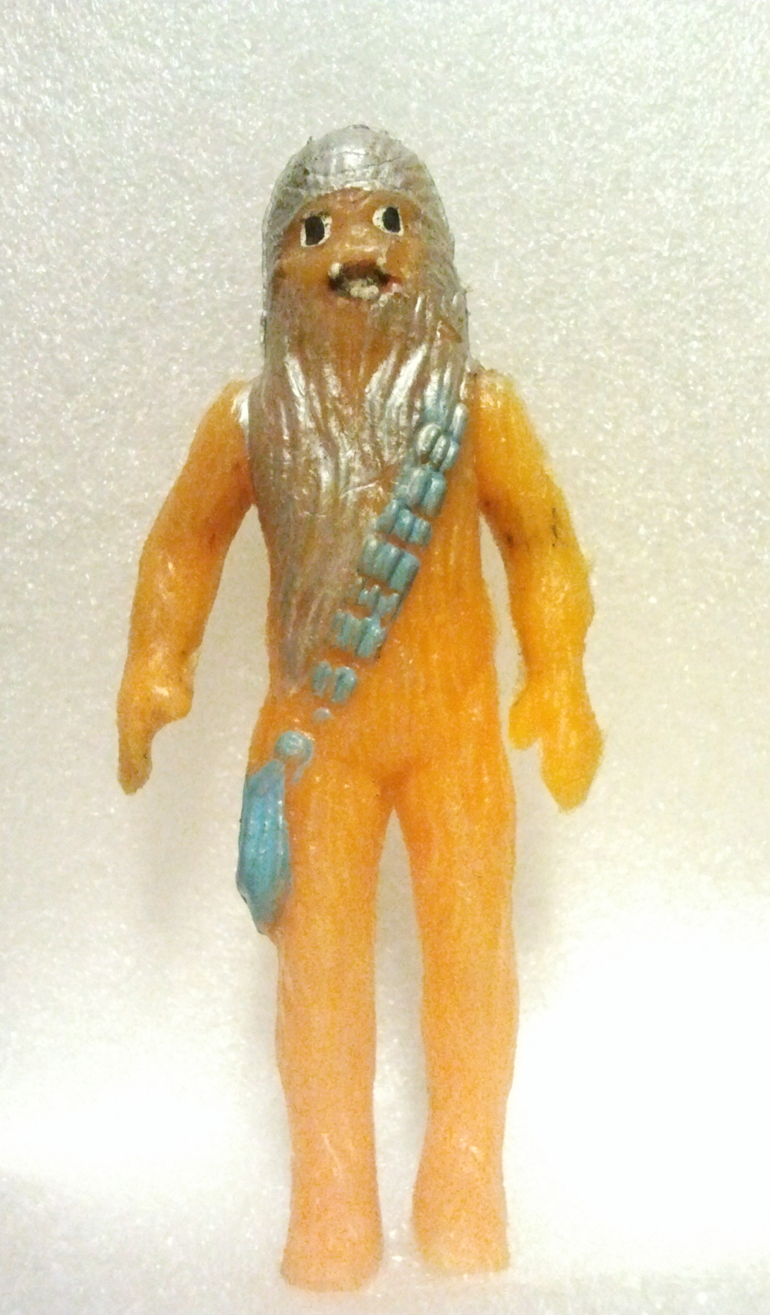 Jadowicie pomarańczowy i srebrny Chewbacca