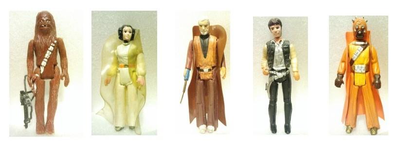 Pierwsze figurki: pomarańczowy Tusken oraz czarny Chewbacca